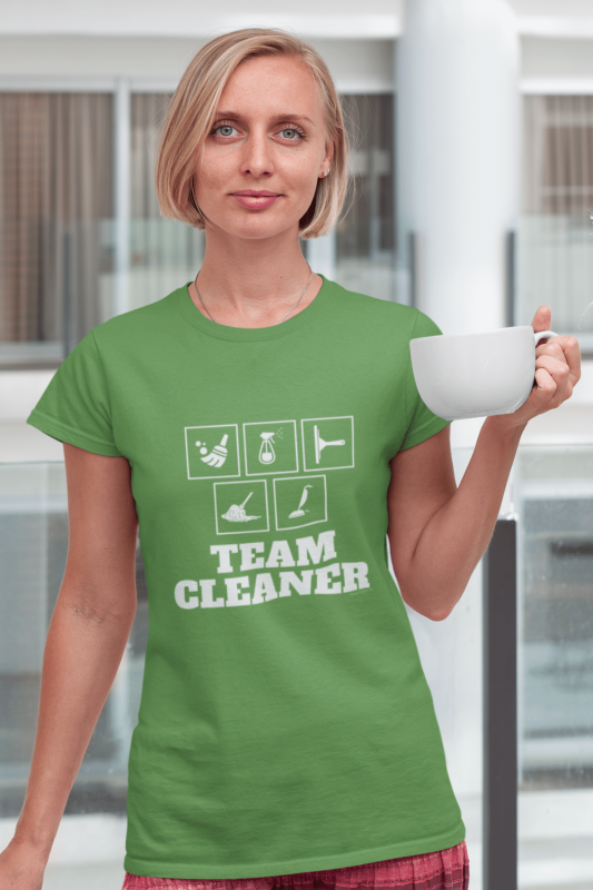 Team Cleaner Savvy Cleaner Funny Cleaning Shirts Standard Tee