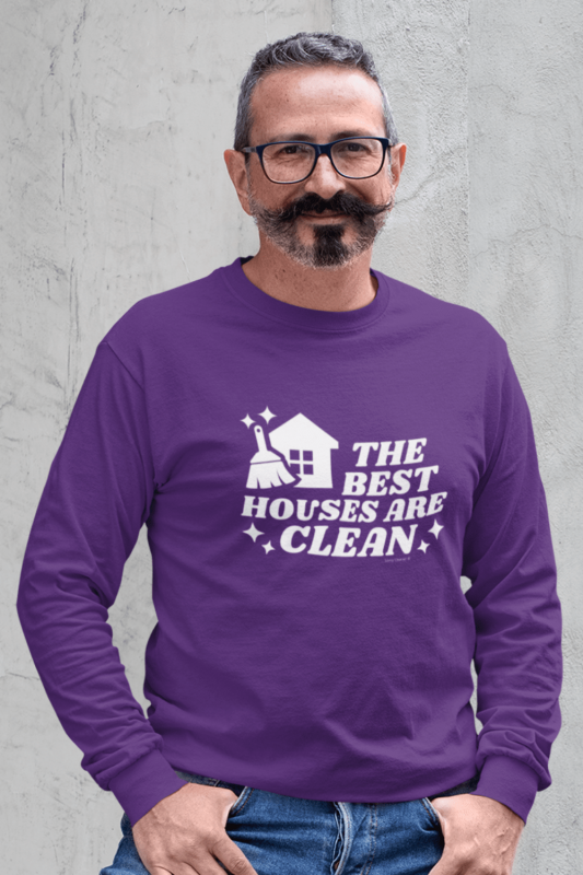 The Best Houses Savvy Cleaner Funny Cleaning Shirts Long Sleeve Tee