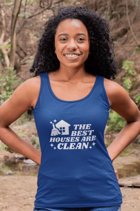 The Best Houses Savvy Cleaner Funny Cleaning Shirts Premium Tank Top