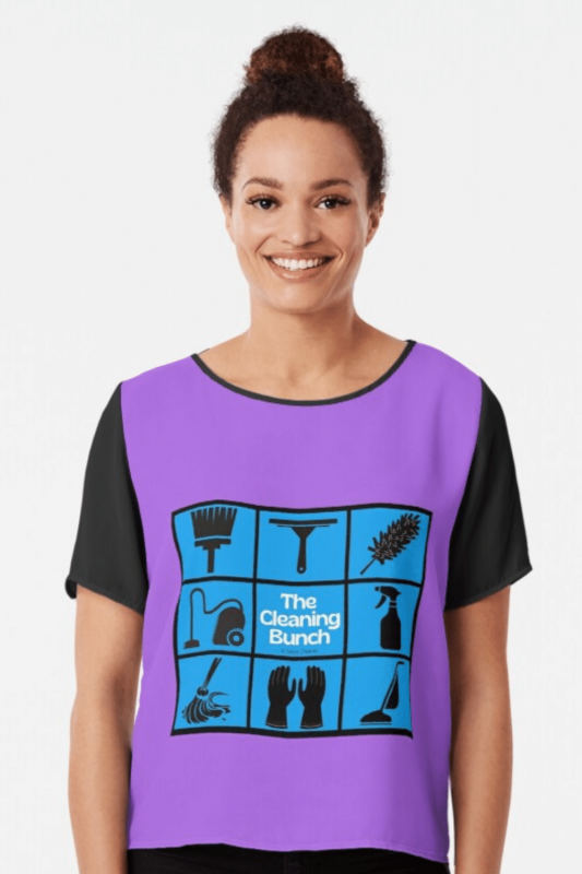 The Cleaning Bunch Savvy Cleaner Funny Cleaning Shirts Chiffon Top