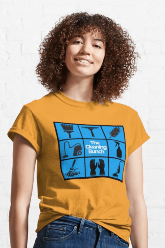 The Cleaning Bunch Savvy Cleaner Funny Cleaning Shirts Classic T-Shirt