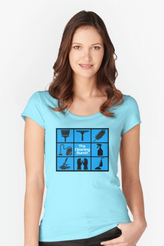 The Cleaning Bunch Savvy Cleaner Funny Cleaning Shirts Fitted Scoop T-Shirt