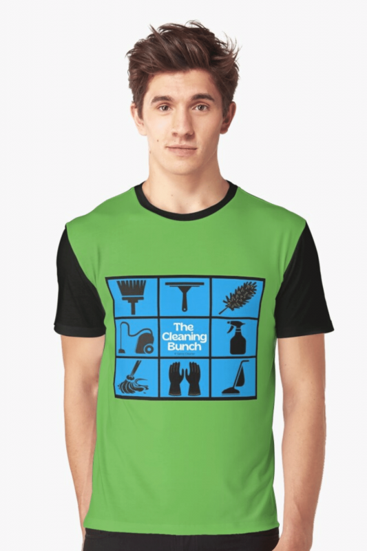 The Cleaning Bunch Savvy Cleaner Funny Cleaning Shirts Graphic T-Shirt