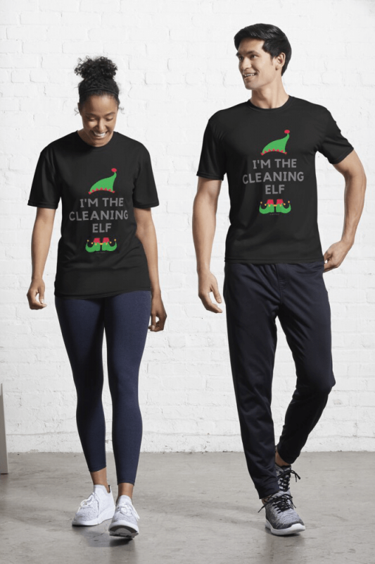 The Cleaning Elf, Savvy Cleaner Funny Cleaning Shirts, Active Shirt