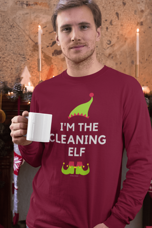 The Cleaning Elf, Savvy Cleaner Funny Cleaning Shirts, Classic Long Sleeve T-Shirt