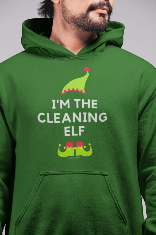 The Cleaning Elf, Savvy Cleaner Funny Cleaning Shirts, Classic Pullover Hoodie