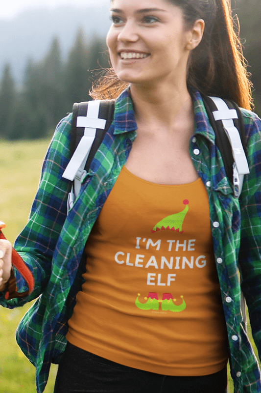 The Cleaning Elf, Savvy Cleaner Funny Cleaning Shirts, Classic Tank Top