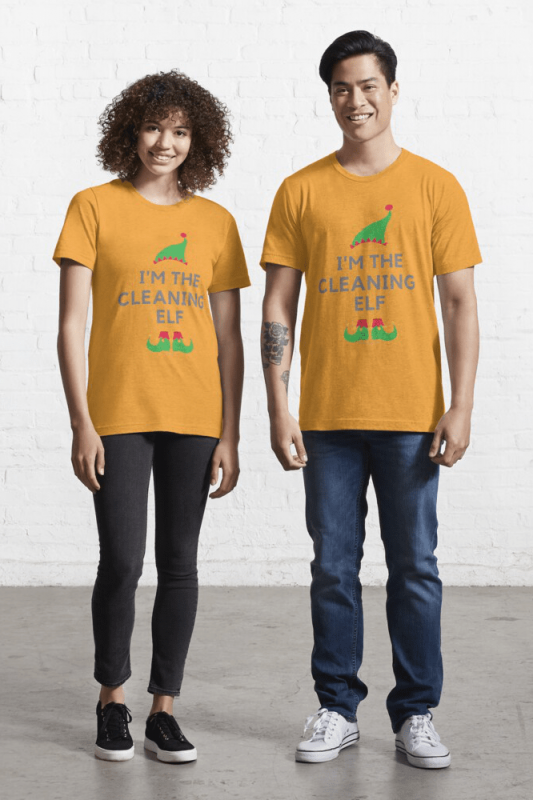 The Cleaning Elf, Savvy Cleaner Funny Cleaning Shirts, Essential Shirt