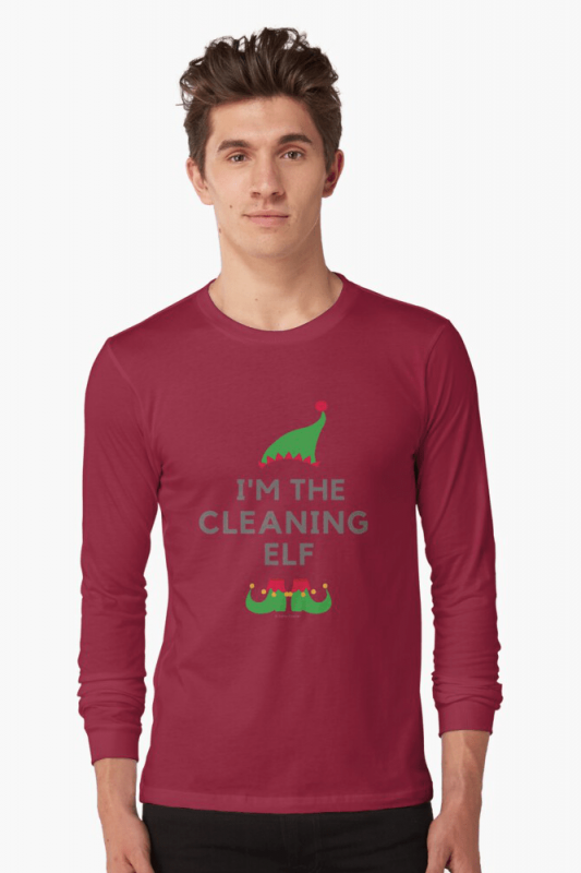 The Cleaning Elf, Savvy Cleaner Funny Cleaning Shirts, Long Sleeve shirt