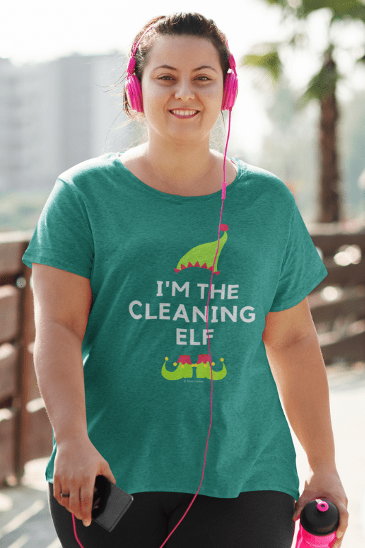 The Cleaning Elf, Savvy Cleaner Funny Cleaning Shirts, Women's Slouchy T-Shirt
