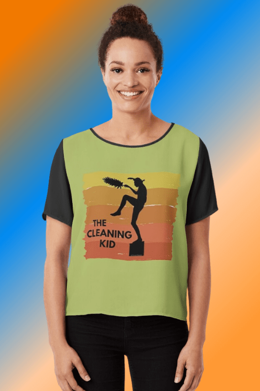 The Cleaning Kid Savvy Cleaner Funny Cleaning Shirts Chiffon Top