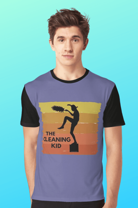 The Cleaning Kid Savvy Cleaner Funny Cleaning Shirts Graphic Tee