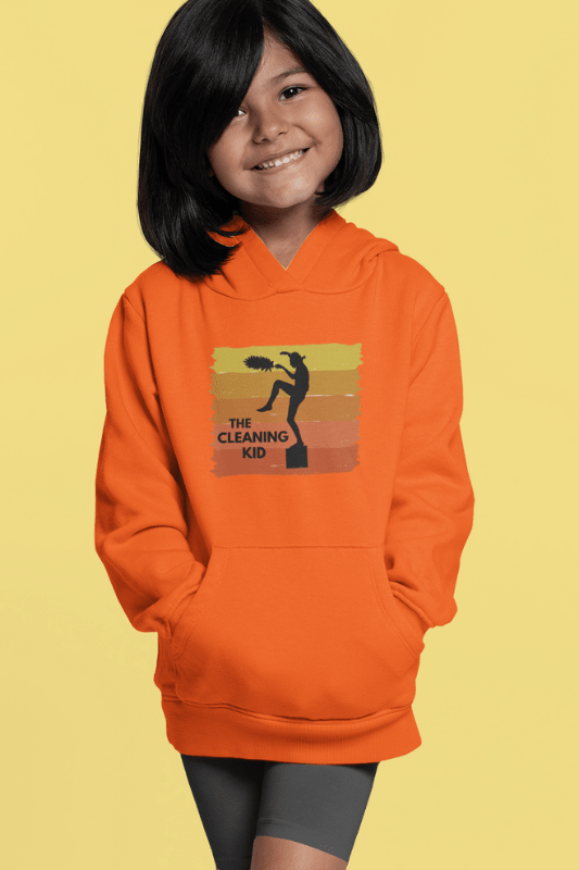 The Cleaning Kid Savvy Cleaner Funny Cleaning Shirts Kids Classic Pullover Hoodie