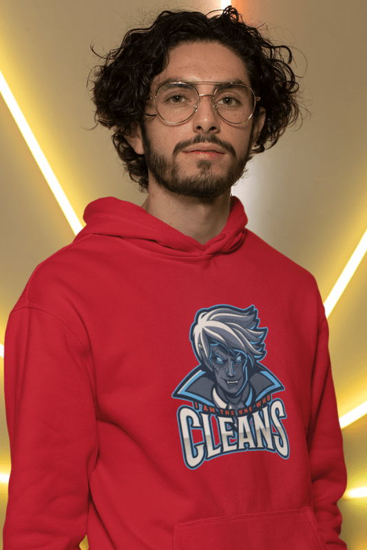 The One Who Cleans, Savvy Cleaner Funny Cleaning Shirts, Classic Pullover Hoodie