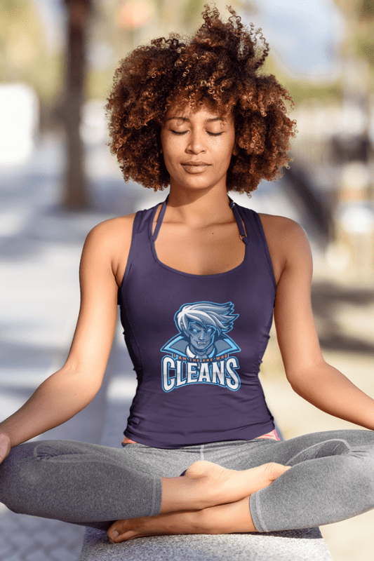 The One Who Cleans, Savvy Cleaner Funny Cleaning Shirts, Premium Tank Top