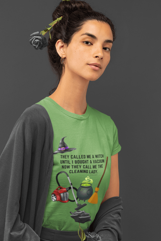 They Called Me a Witch, Savvy Cleaner Funny Cleaning Shirts, Standard Tee