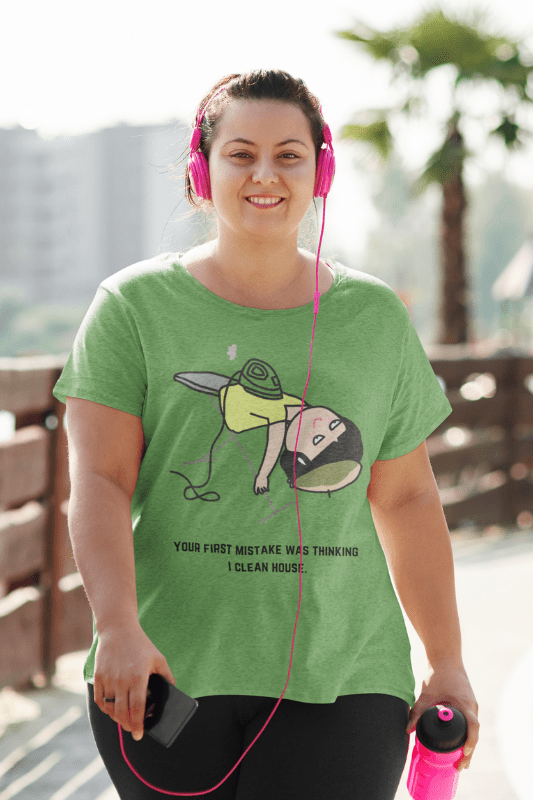Thinking I Clean House, Savvy Cleaner Funny Cleaning Shirts, Comfort Tee
