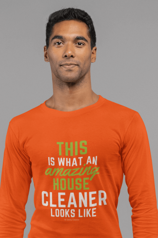 This Amazing House, Savvy Cleaner Funny Cleaning Shirts, Classic Long Sleeve T-Shirt