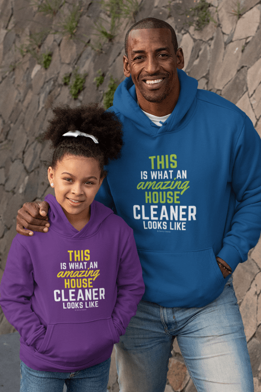 This Amazing House, Savvy Cleaner Funny Cleaning Shirts, Kids Classic Pullover Hoodie