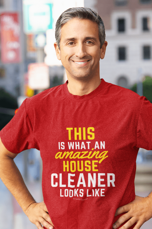 This Amazing House, Savvy Cleaner Funny Cleaning Shirts, Premium T-Shirt