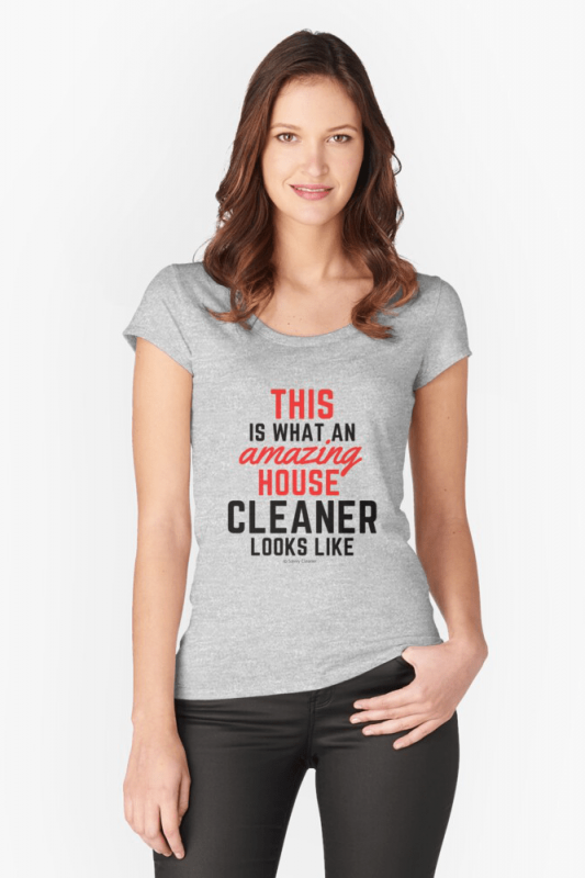 This Amazing House, Savvy Cleaner Funny Cleaning Shirts, Scoop Neck Shirt