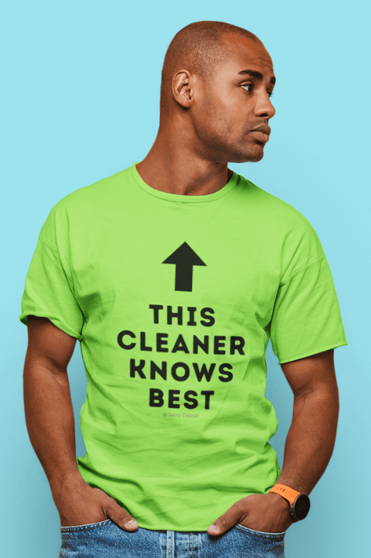 This Cleaner Knows Best, Savvy Cleaner Funny Cleaning Shirts, Classic T-Shirt