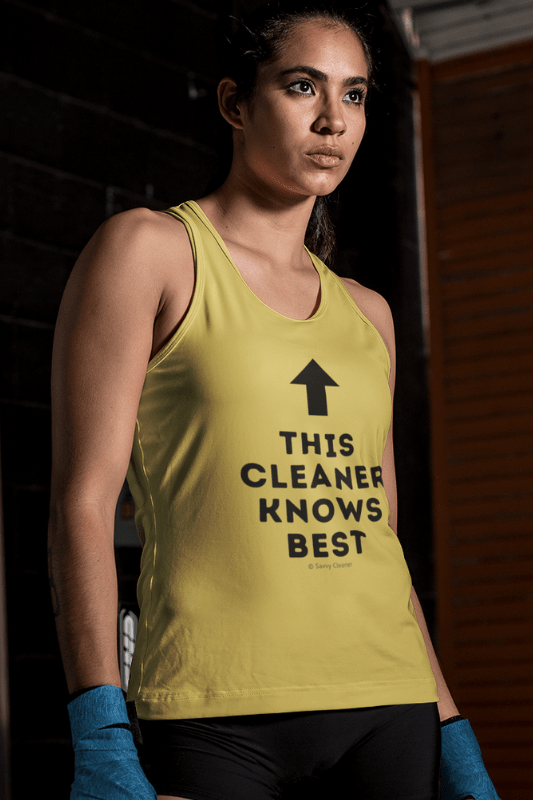 This Cleaner Knows Best, Savvy Cleaner Funny Cleaning Shirts, Classic Tank Top
