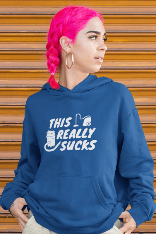 This Really Sucks Savvy Cleaner Funny Cleaning Shirts Classic Pullover Hoodie