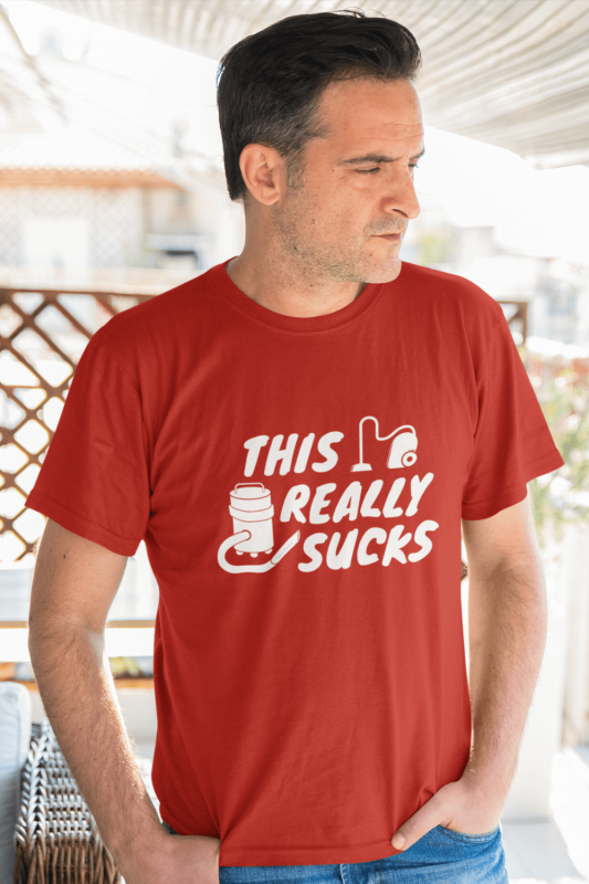 This Really Sucks Savvy Cleaner Funny Cleaning Shirts Men's Standard Tee