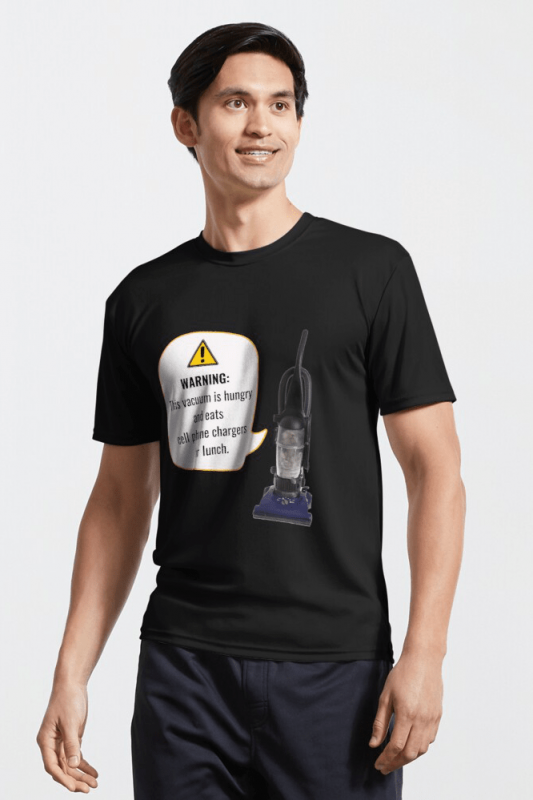 This Vacuum is Hungry, Savvy Cleaner Funny Cleaning Shirts, Active Shirt