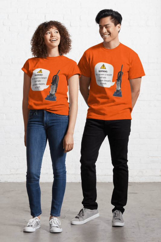 This Vacuum is Hungry, Savvy Cleaner Funny Cleaning Shirts, Classic Shirt