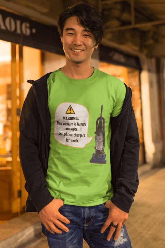 This Vacuum is Hungry, Savvy Cleaner Funny Cleaning Shirts, T-Shirt