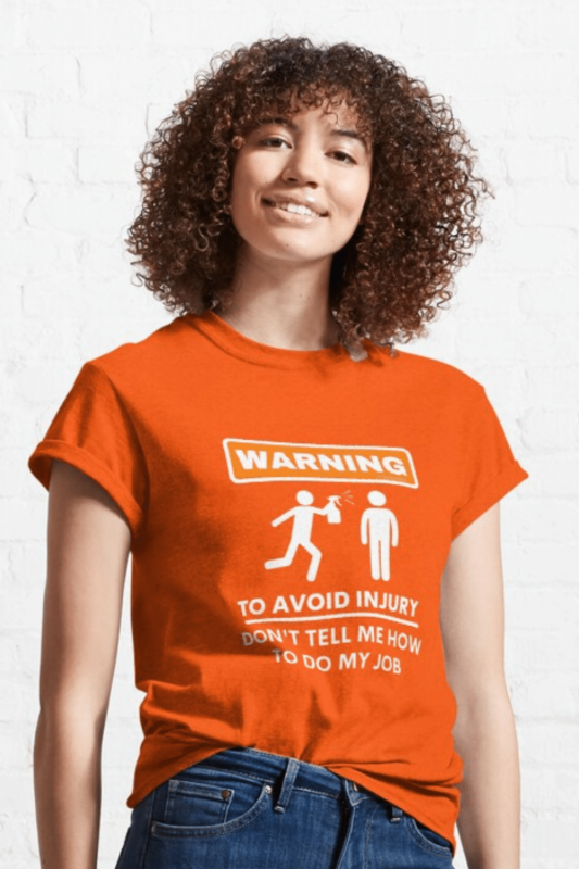 To Avoid Injury Savvy Cleaner Funny Cleaning Shirts Classic T-Shirt
