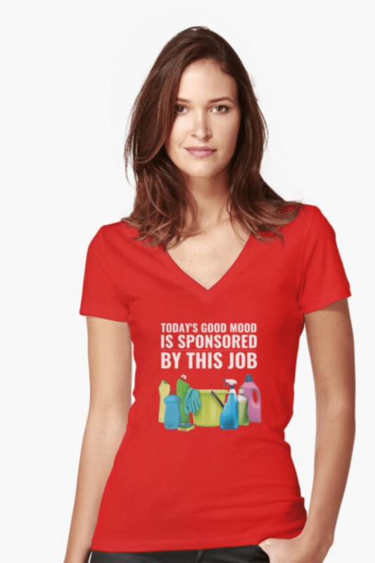 Today's Good Mood Savvy Cleaner Funny Cleaning Shirts V-Neck T-Shirt