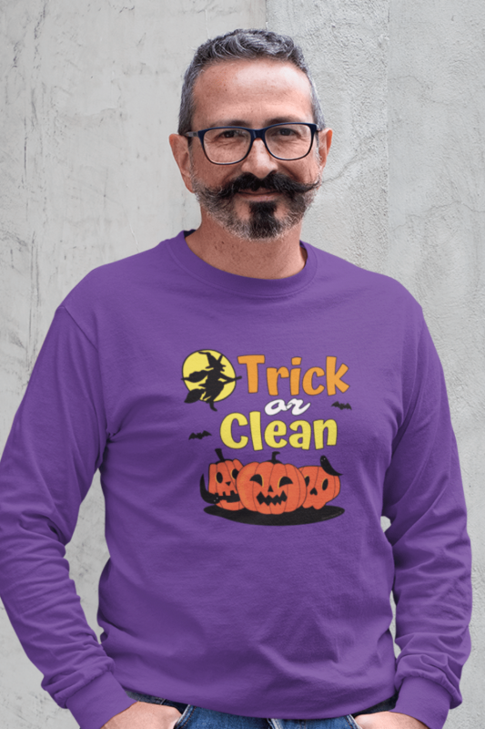Trick or Clean Savvy Cleaner Funny Cleaning Shirts Classic Long Sleeve Tee