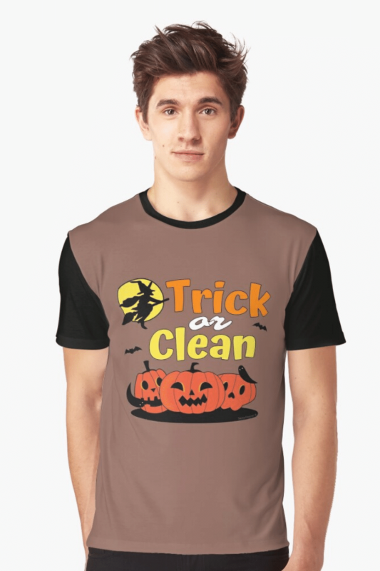 Trick or Clean Savvy Cleaner Funny Cleaning Shirts Graphic T-Shirt
