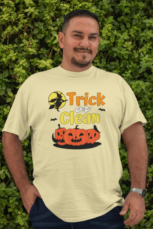 Trick or Clean Savvy Cleaner Funny Cleaning Shirts Premium Tee