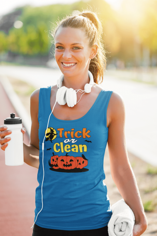 Trick or Clean Savvy Cleaner Funny Cleaning Shirts Standard Tank Top