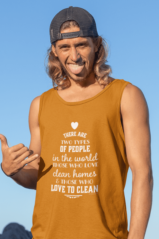Two Kinds of People, Savvy Cleaner Funny Cleaning Shirts, Classic Tank Top