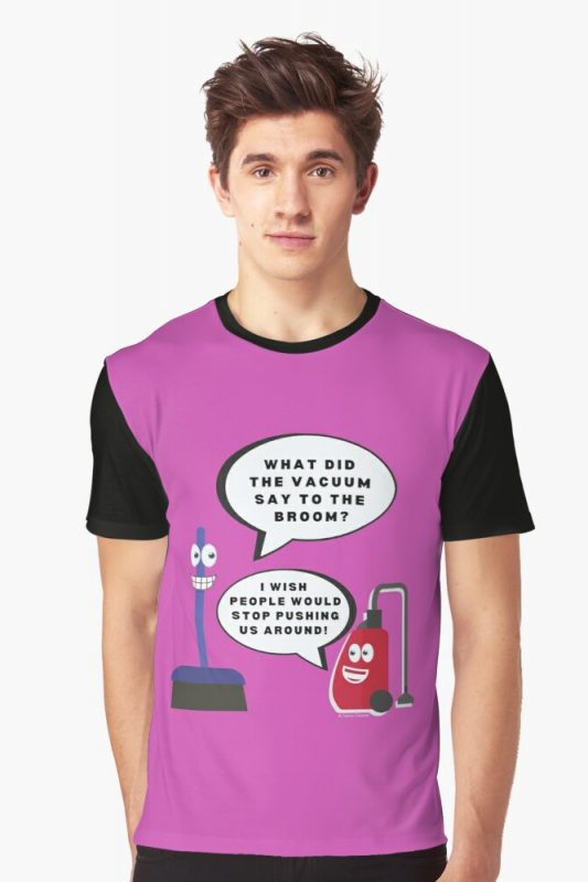 Vacuum Joke Savvy Cleaner Funny Cleaning Shirts Graphic Tee