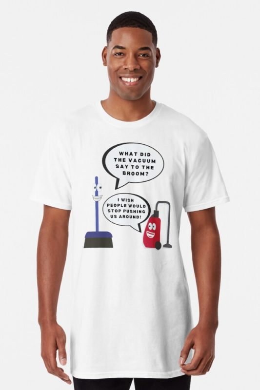 Vacuum Joke Savvy Cleaner Funny Cleaning Shirts Long Tee