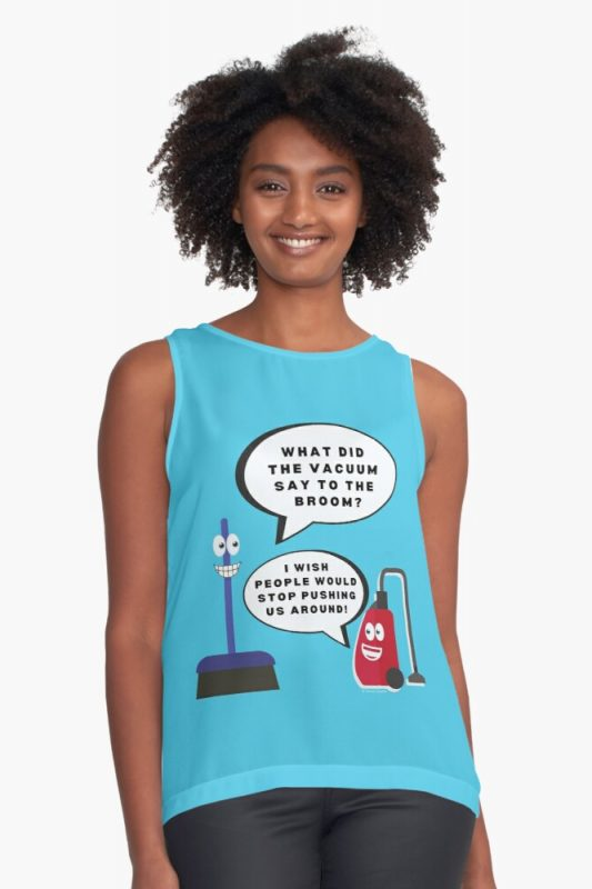 Vacuum Joke Savvy Cleaner Funny Cleaning Shirts Sleeveless Top