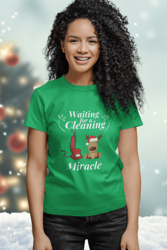 Waiting for a Cleaning Miracle Savvy Cleaner Funny Cleaning Shirts Women's Boyfriend T-Shirt