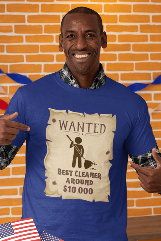 Wanted Poster Savvy Cleaner Funny Cleaning Shirts Men's Standard T-Shirt