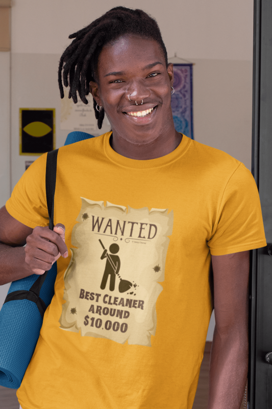 Wanted Poster Savvy Cleaner Funny Cleaning Shirts Premium T-Shirt