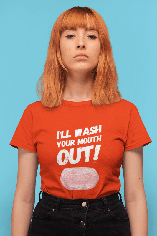 Wash Your Mouth Out Savvy Cleaner Funny Cleaning Shirt Classic T-Shirt