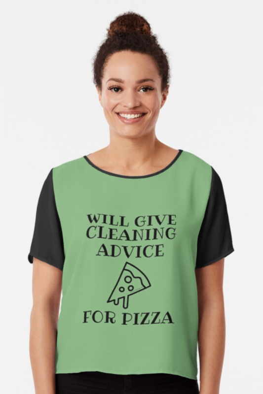 Will Give Cleaning Advice Savvy Cleaner Funny Cleaning Shirts Chiffon Top