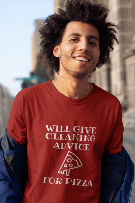 Will Give Cleaning Advice Savvy Cleaner Funny Cleaning Shirts Men's Standard T-Shirt