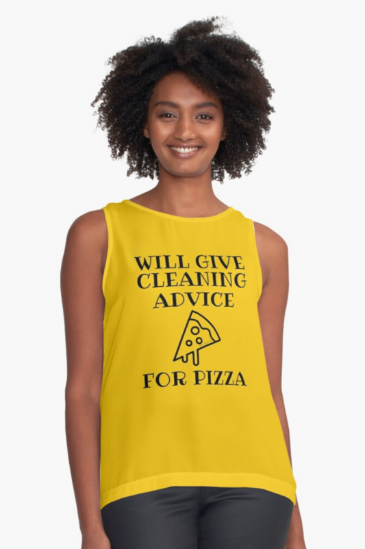 Will Give Cleaning Advice Savvy Cleaner Funny Cleaning Shirts Sleeveless Top