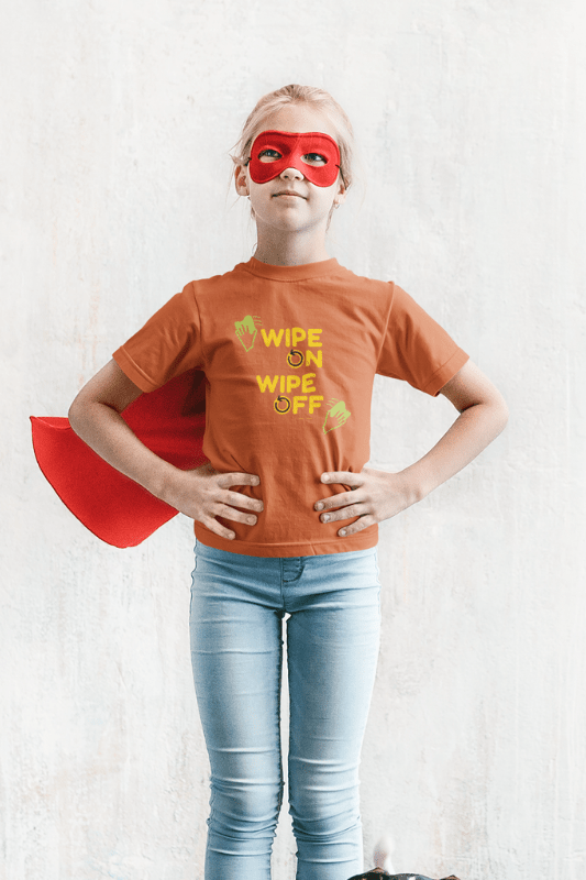 Wipe On Wipe Off, Savvy Cleaner Funny Cleaning Shirts, Kids Premium T-Shirt